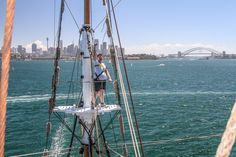 Sydney Tall Ship Experience - Climbed Top The Mask Spectacular Views , Controlled The Ship And Put The Sails Up With The Crew