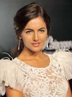 """Camilla Belle wearing Marchesa at the Rodeo Drive """"Walk of Style"""" event oct Casual classy low ponytail. Effortless sophisticated look. Camilla Belle, Princess Belle, Belle Hairstyle, Hairstyle Ideas, Sienna Guillory, Sarah Lancaster, Hot Country Girls, Julie Bowen, Ripped Girls"""