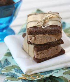 Chocolate chocolate ice cream sandwiches. gluten-free, dairy-free