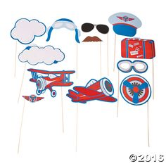 Air travel photo props for a going away party or pilot-themed photo booth! Send your party soaring when you place these aviation-themed photo props next to ...