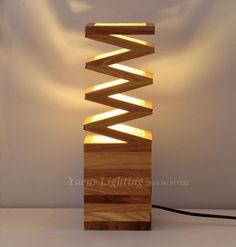 Modern Solid Wood Art Creative Individuality Bedroom Bedside Lights Study Shop Restaurant Wooden Desk Lamp 257-N07 Free Shipping