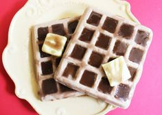Breakfast Waffle With Syrup Soap Real Cinnamon, Lemon Soap, Breakfast Waffles, Summer Dessert Recipes, Corn Dogs, Fake Food, Good Enough To Eat, Slice Of Bread, Butter