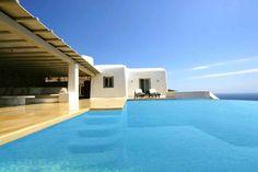 Housination, Villa Vaughn in Mykonos, Greece - Villa & Estate Deals Belize Honeymoon, Best Honeymoon Destinations, Mediterranean Design, Mykonos Greece, Luxury Holidays, Luxury Villa, Beautiful Places, Around The Worlds, Mansions