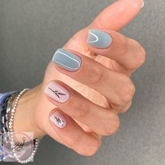 Cute Short Nails, Short Nails Art, Nails Ideias, Cute Nail Art Designs, Short Nail Designs, Minimalist Nails, Neutral Nails, Neutral Colors, Nail Colors