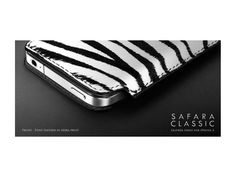 More-Thing Safara Classic Collection für iPhone 4, Zebra-Black / #morething #iPhone4 #iPhone4s #leathercase