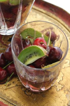 Water infused with cherries! Anti-inflammatory AND Delicious! Great link for water ideas!