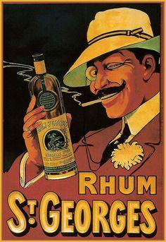 Rhum - St Georges - Bordeaux - French Liqeur - Kitchen - A3 Art Poster Print