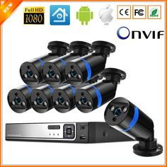 IEEE802.3af 48V 8 Channel PoE Kit Surveillance System PoE Camera 1080P CCTV System 8PCS 1080P PoE IP Camera + 1PCS 8CH PoE NVR  Price: $ 315.99 & FREE Shipping   #computers #shopping #electronics #home #garden #LED #mobiles