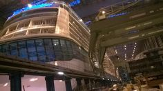Anthem of the Seas in Hall 6 at Meyer Werft Papenburg.