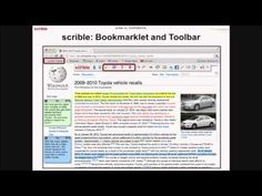 Scrible.screenshot of web page with annotations