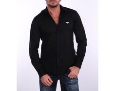 43464 clothing-accessories NWT Mens Emporio Armani Jeans Black Casual Slim Fit Shirt Size M  BUY IT NOW ONLY  $76.3 NWT Mens Emporio Armani Jeans Black Casual Slim Fit Shirt Size M...