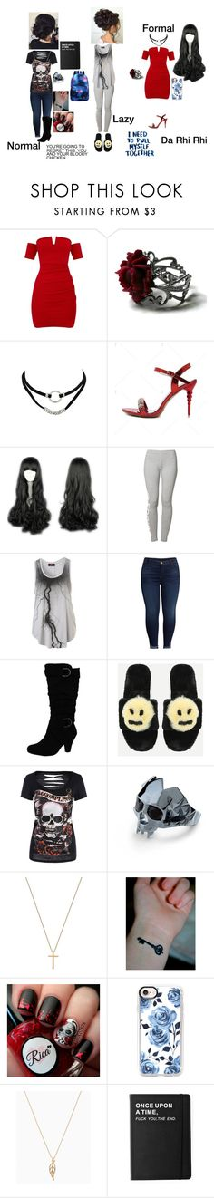 """Ivianna Brooks"" by rhiannabliss on Polyvore featuring adidas Originals, KUT from the Kloth, Kasun, Gucci, Casetify and Killstar"