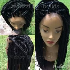 My first lace front  braid wig