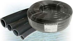 Black tubing is recommended for use in water gardening as it is practically invisible underwater.  Sunlight will not penetrate it, so algae growth inside is inhibited.  Constructed of flexible, plasticized polyvinyl chloride (PVC).  Non-toxic, fish safe.  Use for ponds, air conditioning and refrigeration condensation drain, condensation pump discharge line, humidifier overflow and many more industrial and domestic uses.