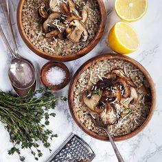 Mushroom And Garlic Buckwheat Risotto