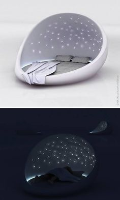 Saint Petersburg-based designer Natalia Rumyantseva created the Cosmos Bed as a way of letting you take the starry night sky home. (Cool Gadgets Awesome Inventions) Dream Rooms, Dream Bedroom, Cool Furniture, Furniture Design, Furniture Ideas, Library Furniture, Sky Home, Starry Night Sky, Sky At Night
