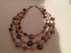 Collana di pietre dure e perle di fiume, by GIOBijoux, 80,00 € su misshobby.com