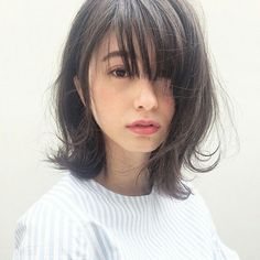 Japan's most popular short hair - Page 15 of 39 - zzzzllee Hairstyles With Bangs, Pretty Hairstyles, Japan Hairstyle, Medium Hair Styles, Short Hair Styles, Hair Medium, Asian Hair, Asian Bangs, Hair Arrange