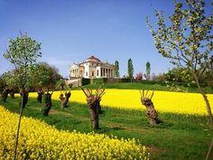 "Nice view of Villa ""La Rotonda"" in spring time, Vicenza, Italy"