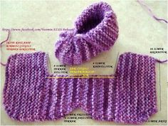 Art at Home: Baby Booties in knitting Knitting For Kids, Loom Knitting, Knitting Socks, Knitting Projects, Baby Knitting, Crochet Projects, Knitting Patterns, Crochet Baby Shoes, Crochet Baby Booties