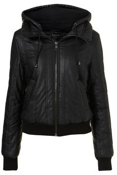 black leather jacket... more tomboyish than chic. casual and edgy.
