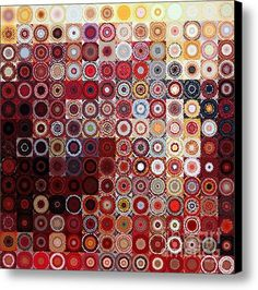 Circles And Squares 11. Modern Home Decor Art Canvas Print / Canvas Art By Mark Lawrence