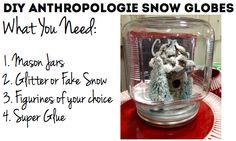DIY Snow Globes! Easy do it yourself christmas craft