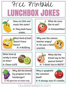 Simple Ways to Make Lunch Fun at School - Jokes - Funny memes - - Free Printable lunchbox jokes. My kids love these. Its a simple way to make homemade lunches FUN! The post Simple Ways to Make Lunch Fun at School appeared first on Gag Dad. School Jokes, School Lunches, Kid Lunches, Funny School, School Tips, School Fun, Funny Jokes For Kids, Jokes Kids, Funny Puns