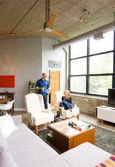 Eric & Kellie's Pencil Factory Loft House Tour | Apartment Therapy