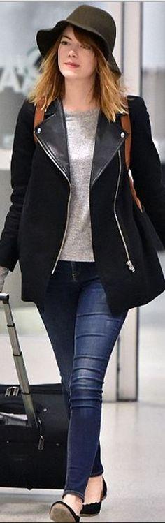 Emma Stone: Jeans – Rag & Bone  Shoes – Chloe
