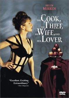'The Cook, the Thief, his Wife, and her Lover' Photo: Helen Mirren in a Jean-Paul Gaultier corset outfit. Stars: Richard Bohringer, Michael Gambon and Helen Mirren. Michael Gambon, Helen Mirren, Film Gif, Evil Dead, Food Film, Fritz Lang, Trailer, Cannes Film Festival, Great Movies