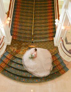 Katy and Matthew's Fun Fairytale Disney Wedding - Confetti Perfect Wedding Dress, Dream Wedding Dresses, Designer Wedding Dresses, Bridal Dresses, Tulle Wedding, Fairytale Weddings, Real Weddings, Disney World Wedding, Disney World Florida