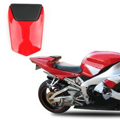 CUSTOM Seat Cover BMW S1000RR 09-11 M-style red-blue-sky 002