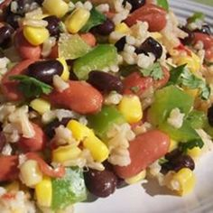 """Mexican Bean and Rice Salad I """"YUM! I loved the combination of flavors in this! This is a keeper!"""""""