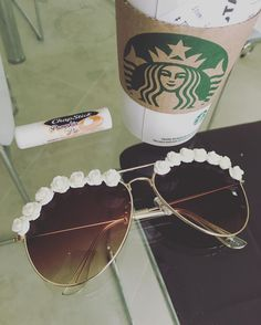 Must have obsessions for the day!! ☕️ in love with the new addition LA Boho Ivory #obsessedshades#starbucks#pumpkinspicelatte#festival#flowerchils#sunnies#flowersunglasses#coachella  by OBSESSED SHADES on ETSY