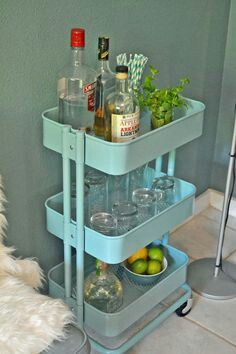 This is probably one of the most versatile trolleys from IKEA though i would probably use it for soda and cordial