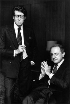 * Yves Saint Laurent et Pierre Bergé, photo Alice Springs, Paris, 1983.