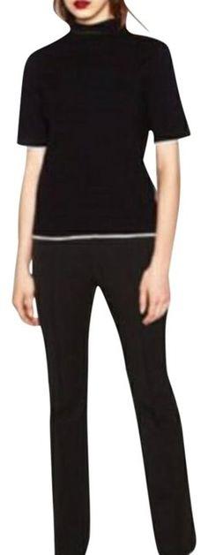 8c83dea2 New With Tags Zara Black Boot Cut Trousers Sz XL Pull On Stretch Flare Boot  Cut. Tradesy