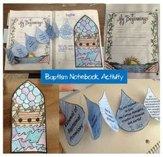 Look to Him and be Radiant: Reviewing the Sacraments- Baptism printable Catholic craft for kids