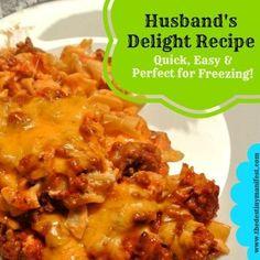 Husband's Delight Freezer Casserole Recipe..