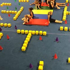 Gymnastics Pac-Man Game Build up those hamstrings. Gymnastics Warm Ups, Gymnastics Games, Gymnastics Lessons, Preschool Gymnastics, Tumbling Gymnastics, Gymnastics Coaching, Gymnastics Videos, Gym Games, Gymnastics Workout