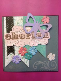 Scrapbooking card cherish