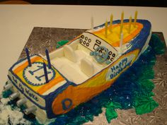 speed boat cake