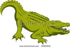Alligator about to attack  #alligator #retro #illustration
