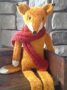 Pattern to buy £3.25 - Ravelry: Sophisticated Mr. Fox pattern by Amanda B Collins