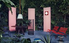 "Elle Decor ""Jungle & Colour"" on Behance Furniture Styles, Furniture Design, Scenery Pictures, Themes Photo, Freedom Design, Simple Colors, Stage Design, Elle Decor, Colour Schemes"