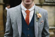 Groom in Tweed Jacket, Cord waistcoat & Wool Tie   Raimon Bundo Diana Wedding Dress   Bamburgh Castle   Coastal Wedding   Beach Portraits   Marquee Reception   Pastel Colour Scheme   Ruth Atkinson Photography   http://www.rockmywedding.co.uk/sophie-ben/