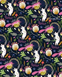Happy ? Mitou ! Illustration Blog !!!!: Forest Pattern !!! :)