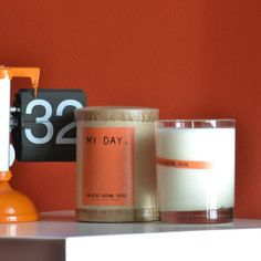 My Day Caffeine Please Candle, $15, now featured on Fab.