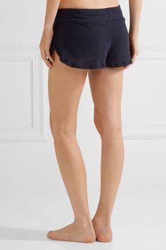 Eberjey - Heather Jersey Pajama Shorts - Storm blue - medium